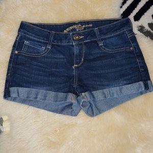 Arizona Jean co Juniors Denim Blue jean cuff short